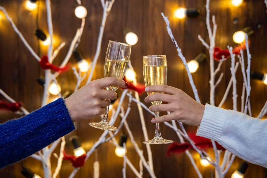 Gezonde kerst met alcohol