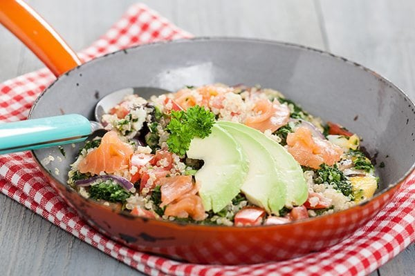 super boeren omelet met quinoa