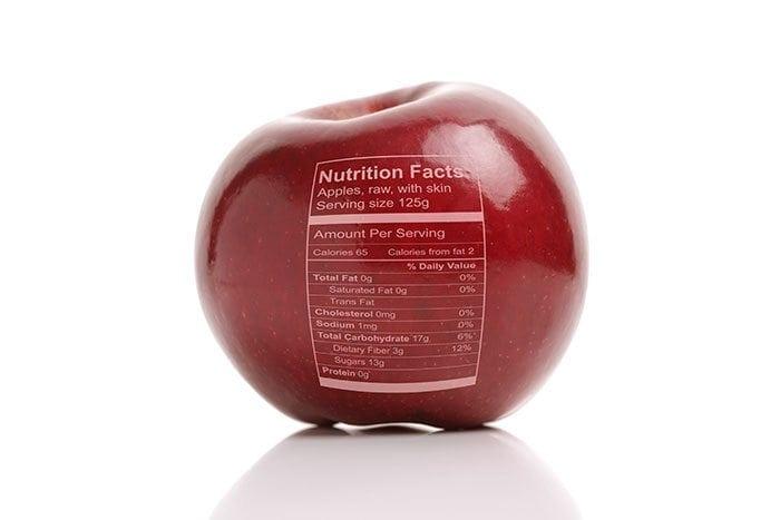 Appel met etiket