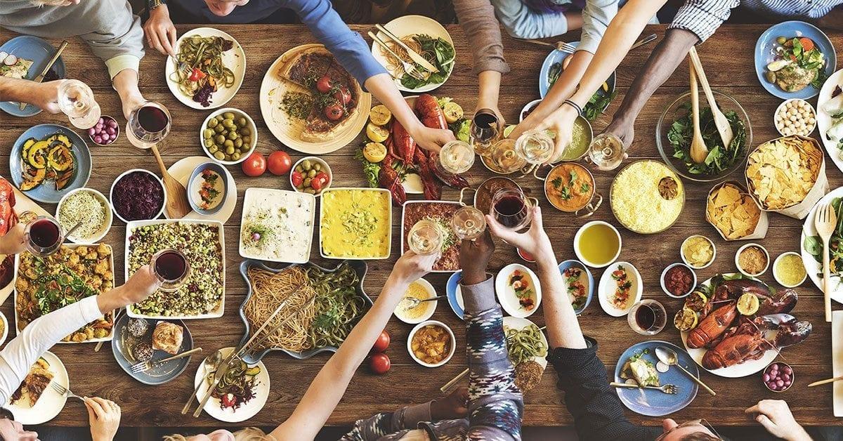 uit eten gaan en afvallen